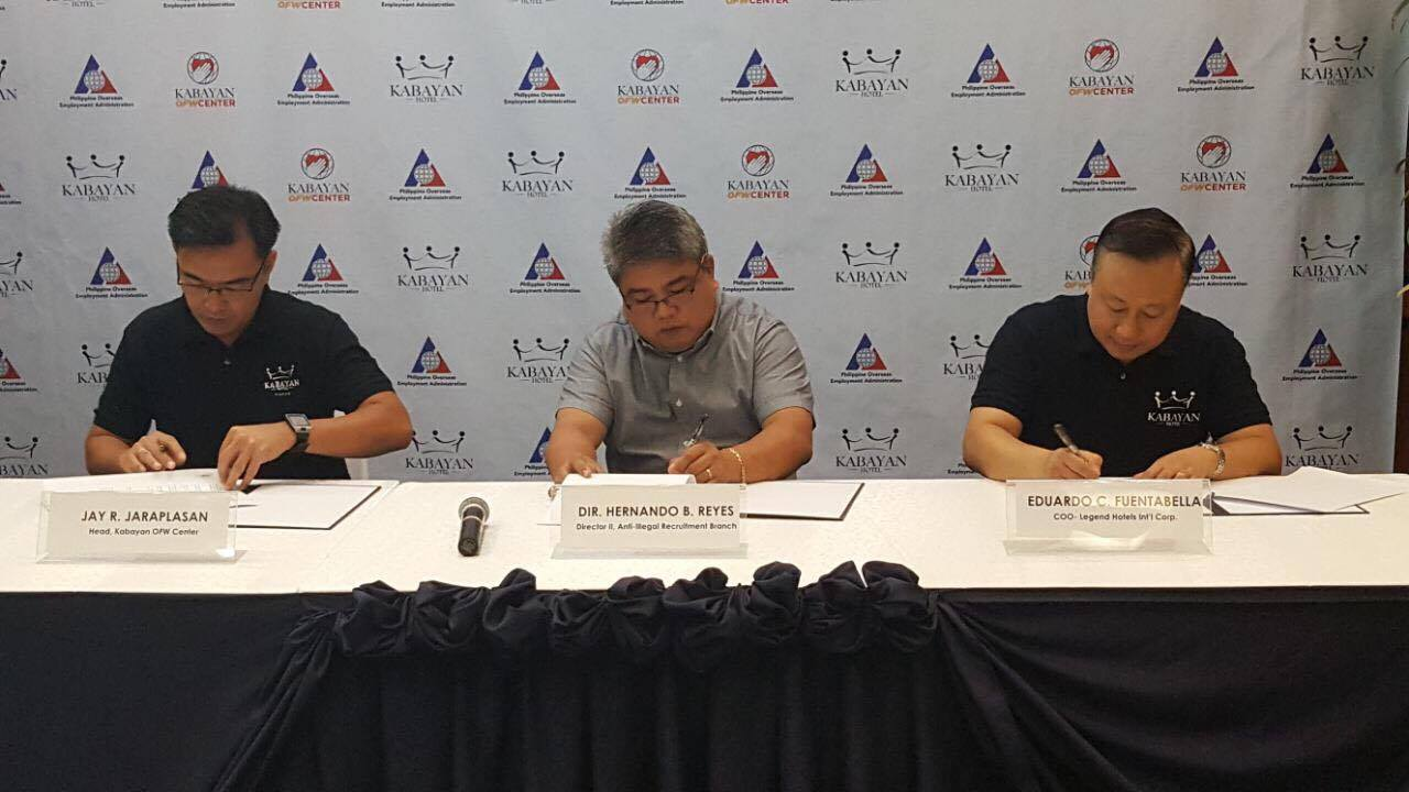 Anti-Illegal Recruitment MOU Signing with POEA