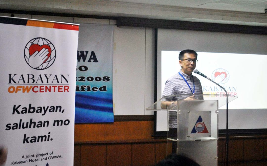 Kabayan OFW Center holds first 2018 OWWA Salu-Salo