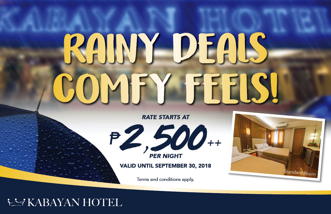 Tag-ulan na naman! Stay comfy with us and we'll treat you to a bowl of hot Arroz Caldo! Book a Standard Room for only ₱2,500++/night.
