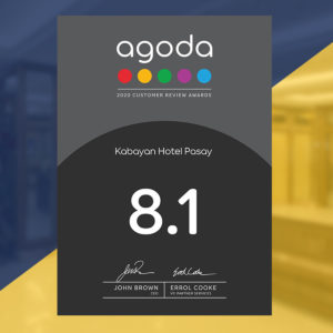 Kabayan Hotel Agoda 2020 Customer Review Awards