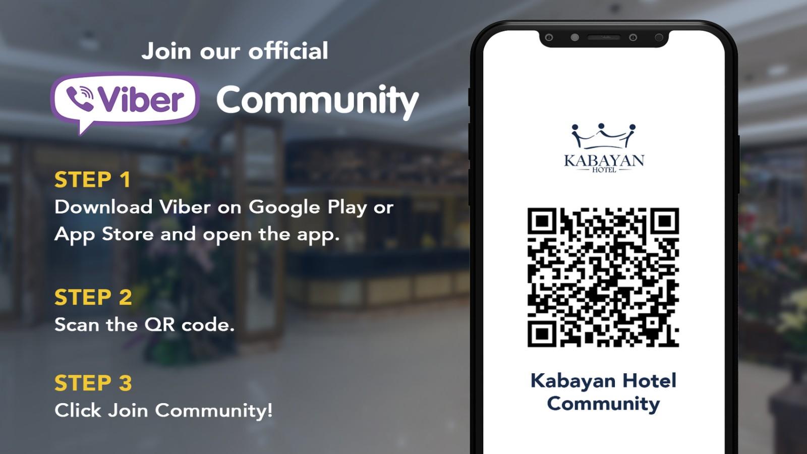 Kabayan Hotel Viber Community